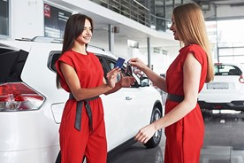 Buying a car from an auto dealer