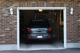 Car parking indoors in a garage