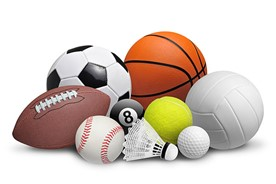 Balls used for various sport activities