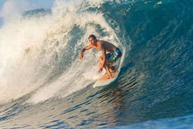 Surfing on an awesome wave