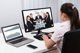 Sharing a meeting via videoconferencing