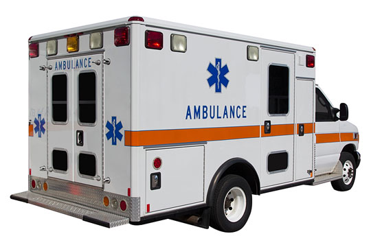 Ambulance ready for an emergency call