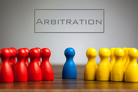 Case arbitration by a neutral party