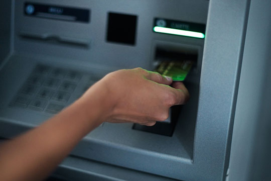 Banking with an ATM machine