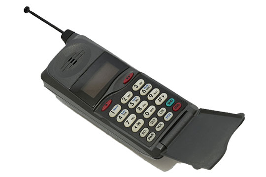 Vintage cell phone ready for use