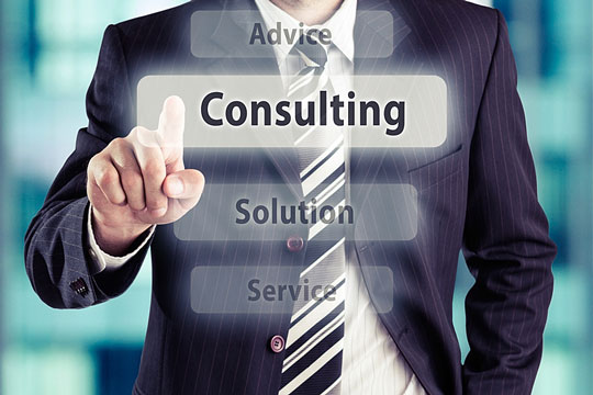 Solutions and services from a consulting business