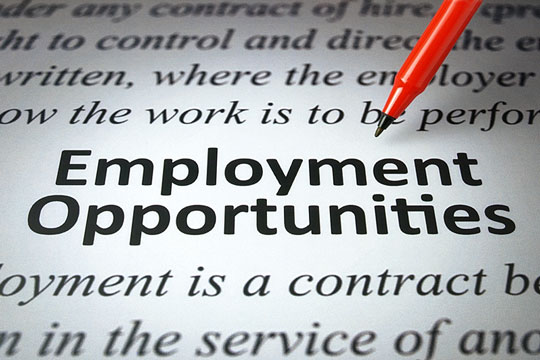 Employment opportunities listed in a newspaper