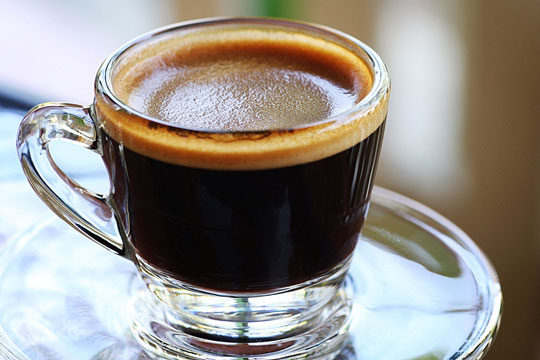 Cup of freshly-made espresso
