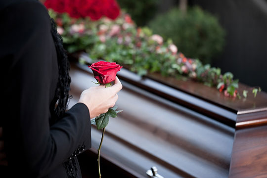 Person attending a funeral