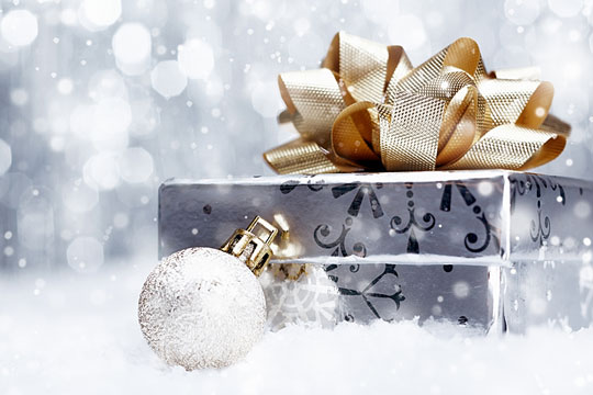 Specially wrapped gift