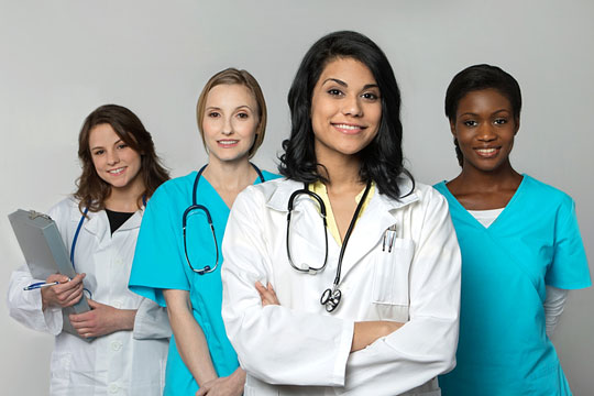 Members of a health care team