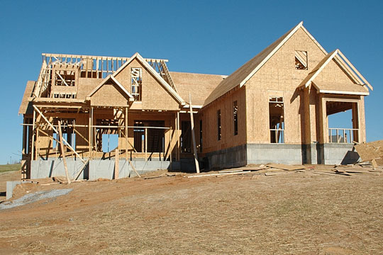 Home in the process of being built