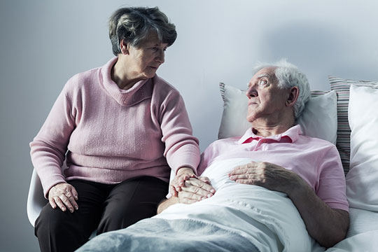 Patient receiving hospice care