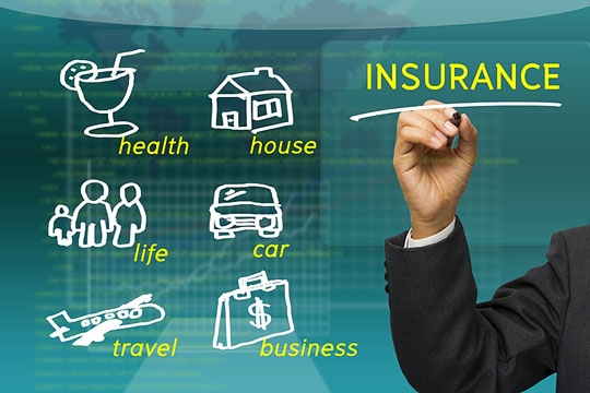 Types of insurance - illustrated