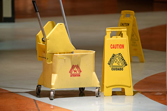 Equipment used by janitorial staff