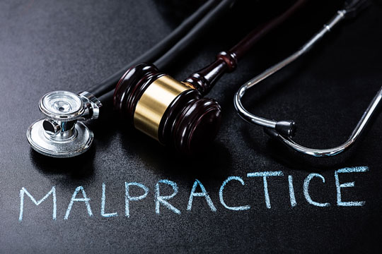 Medical malpractice insurance concept