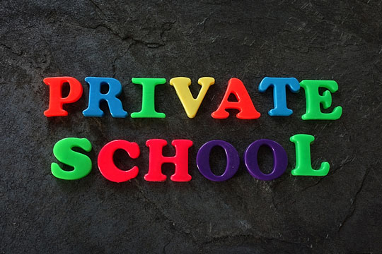 Educated at a private school