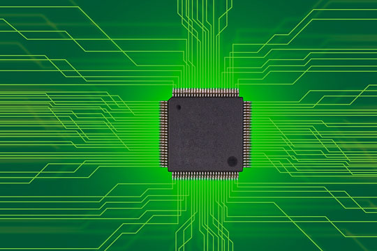 Semiconductor on a circuit board