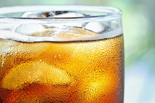 Cold soft drink in a glass