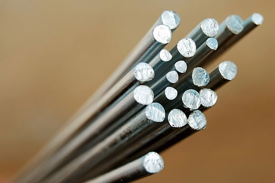 Steel rods of various sizes