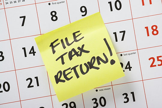 Tax  return filing date